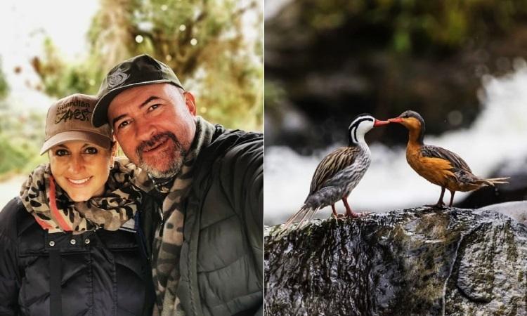 Pareja de colombianos recorren el país avistando aves con un mensaje de conservación