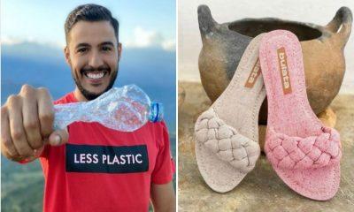 En Santander convierten botellas de plástico en camisetas y zapatos