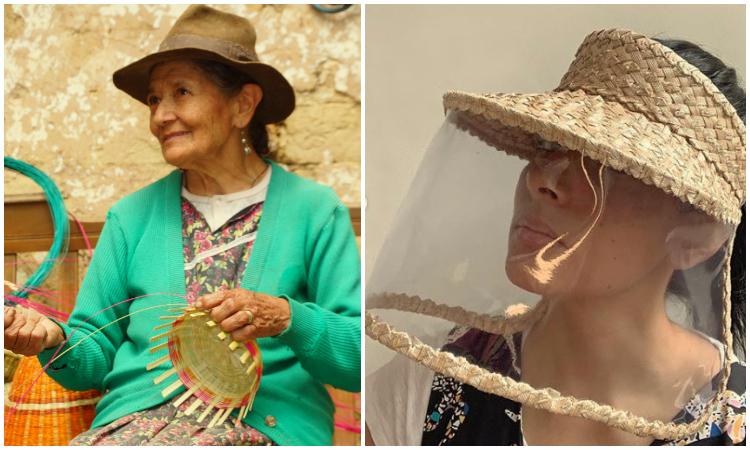 Emprendedora y artesanos boyacenses fabrican tapabocas y viseras de paja