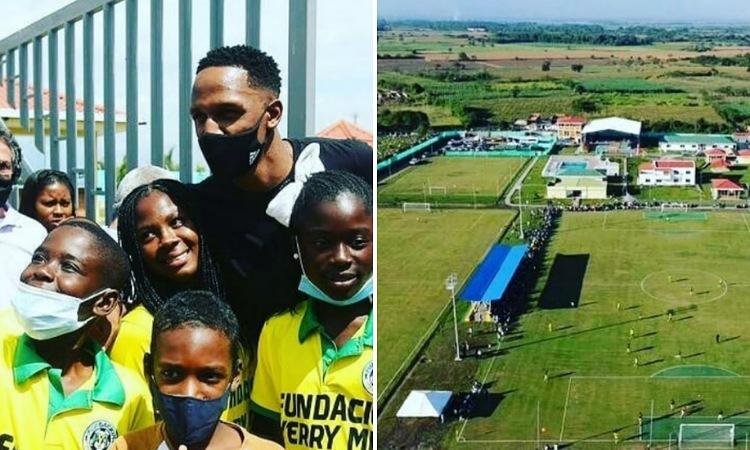 Yerry Mina inauguró la sede deportiva de su fundación en Guachené