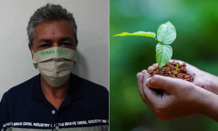 Tapabocas que se siembran, otra creación del considerado el mejor inventor colombiano
