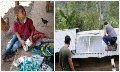Jóvenes llevaron energía eléctrica a niños campesinos de Boyacá para que puedan estudiar