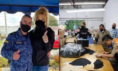 Johana Bahamón impulsa que internos fabriquen 14 mil tapabocas para el Inpec