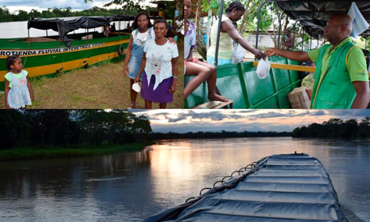 La 'plaza' de mercado que empezó a navegar en uno de los principales ríos de Colombia La Nota Positiva
