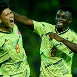 Selección Colombia en la fase final que define el tiquete a los Juegos Olímpicos