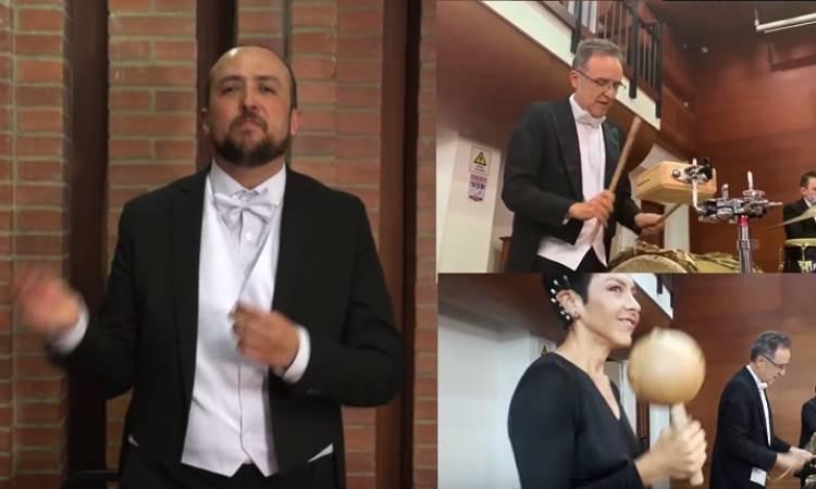 """Músicos de la Filarmónica de Bogotá cantaron desde sus casas """"Colombia tierra querida"""""""