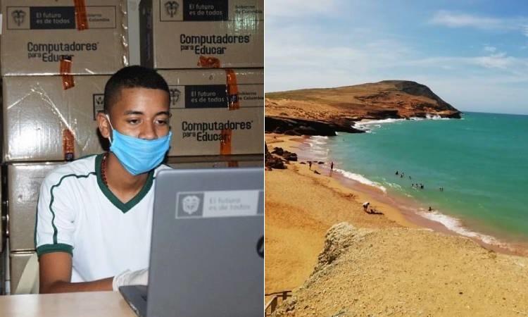 Instituciones educativas de La Guajira reciben computadores que no necesitan Internet