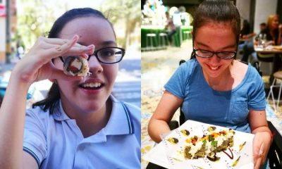 Joven de 16 años con parálisis cerebral es crítica gastronómica y ejemplo de superación