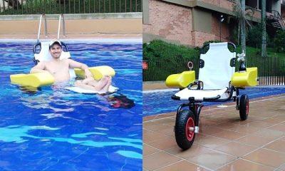Colombiano hace productos acuáticos para personas con movilidad reducida ¡Busca apoyo!