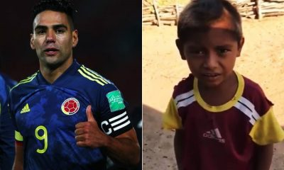 Falcao se emociona con un niño narrador de goles y quiere escucharlo en las eliminatorias