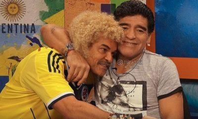 El día que Diego Armando Maradona celebró eufóricamente un gol de Colombia