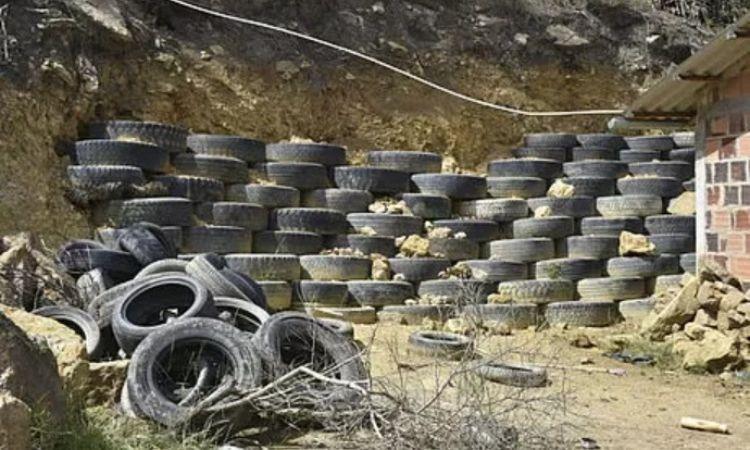 Así proponen llantas para armar muros de contención que eviten deslizamientos