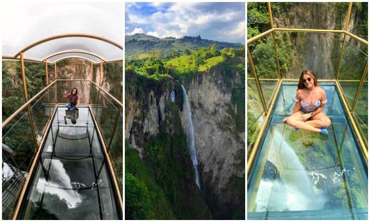 Así es el puente de cristal para ver una cascada a 210 metros de altura en Colombia