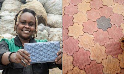 En África convierten desechos plásticos en ladrillos más duraderos que el concreto