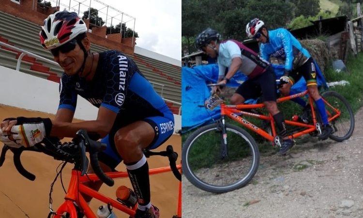 Deportista con discapacidad visual recorre en bicicleta toda Colombia