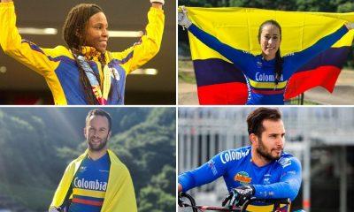 Ingrid Valencia, Mariana Pajón, Vincent Pelluard y Carlos Ramírez, por el sueño dorado