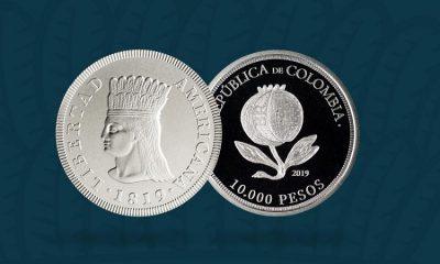 Colombia tiene nueva moneda conmemorativa del Bicentenario de la Independencia