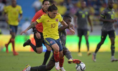 Colombia empata ante Ecuador y sigue entre los cinco clasificados a Qatar
